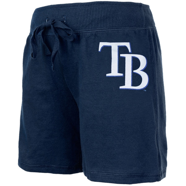 Tampa Bay Rays - Glitter Logo Girls Juvy Blue Drawstring Shorts