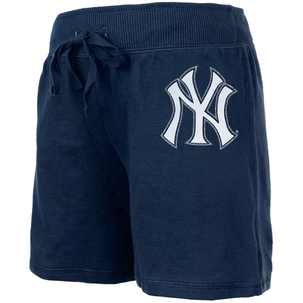 New York Yankees - Glitter Logo Girls Youth Drawstring Shorts