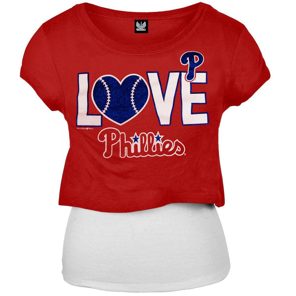 Philadelphia Phillies - Glitter Love Girls Youth T-Shirt w/Tank