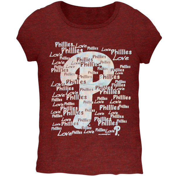 Philadelphia Phillies - Foil Love Girls Youth T-Shirt