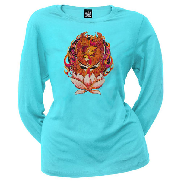 Grateful Dead - Phoenix Rising SYF Aqua Ladies Long Sleeve
