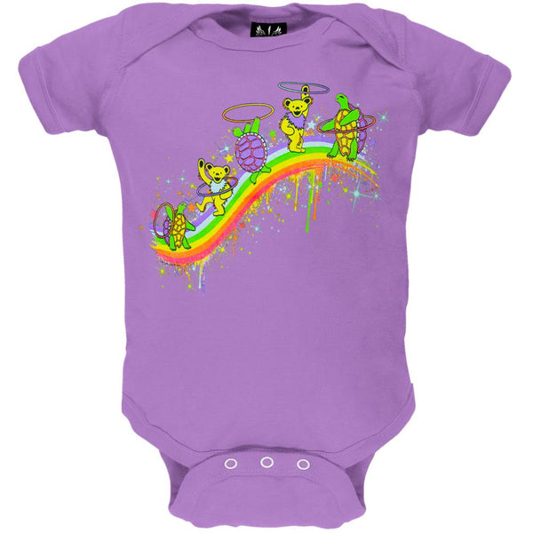 Grateful Dead - Rainbow Hoopers Lavender Baby One Piece