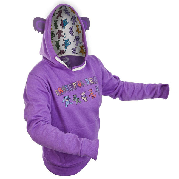 Grateful Dead - Dancing Bear Juniors Costume Hoodie - front view