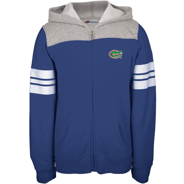 Florida Gators - Game Day Sports Stripes Girls Youth Zip Hoodie