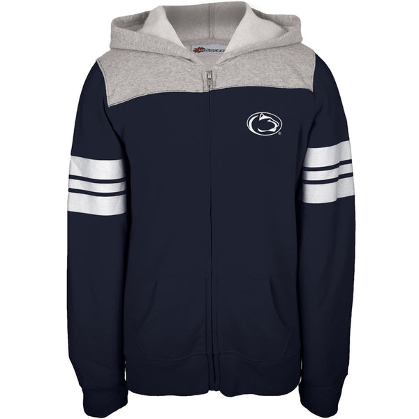 Penn State - Game Day Sports Stripes Girls Youth Zip Hoodie