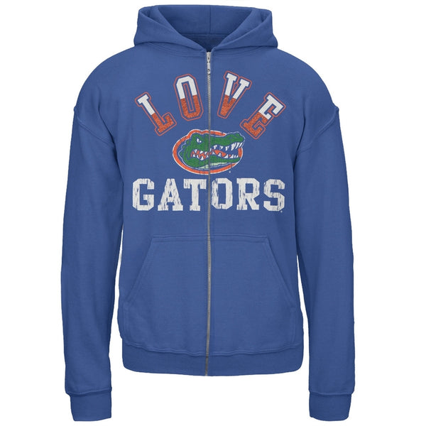 Florida Gators - Glitter Love Logo Girls Juvy Zip Hoodie