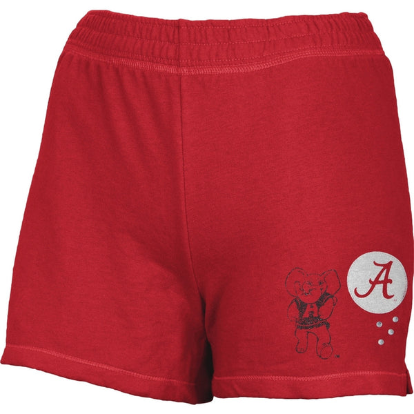 Alabama Crimson Tide - Glitter Logo w/ Rhinestones Girls Youth Athletic Shorts