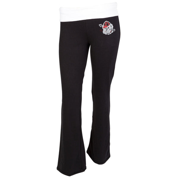 Georgia Bulldogs - Glitter Logo Cheer Girls Juvy Sweatpants