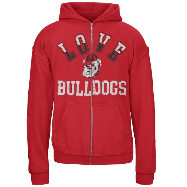 Georgia Bulldogs - Glitter Love Girls Youth Zip Hoodie