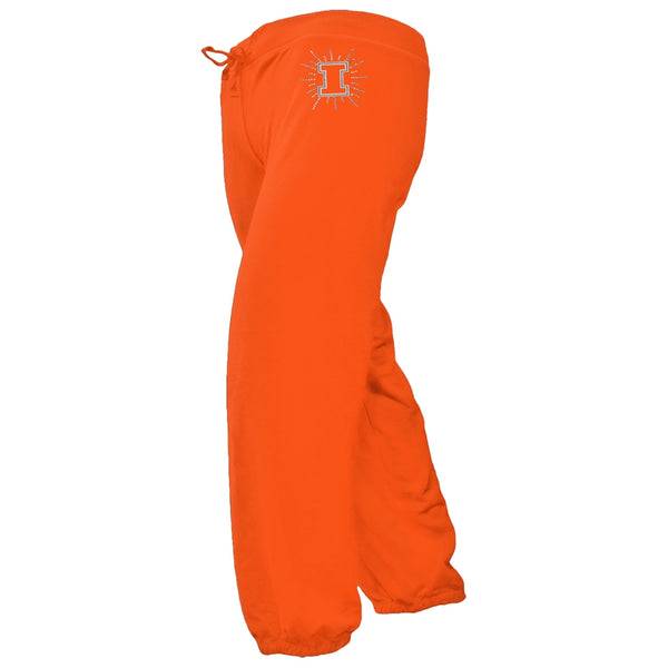 Illinois Fighting Illini - Foil Logo Girls Juvy Drawstring Sweatpants