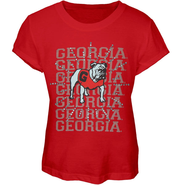 Georgia Bulldogs - Rhinestone Ray Girls Juvy T-Shirt