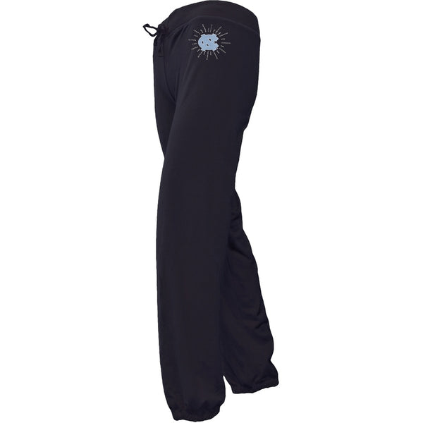 N. Carolina Tar Heels - Foil Logo Girls Juvy Drawstring Sweatpants
