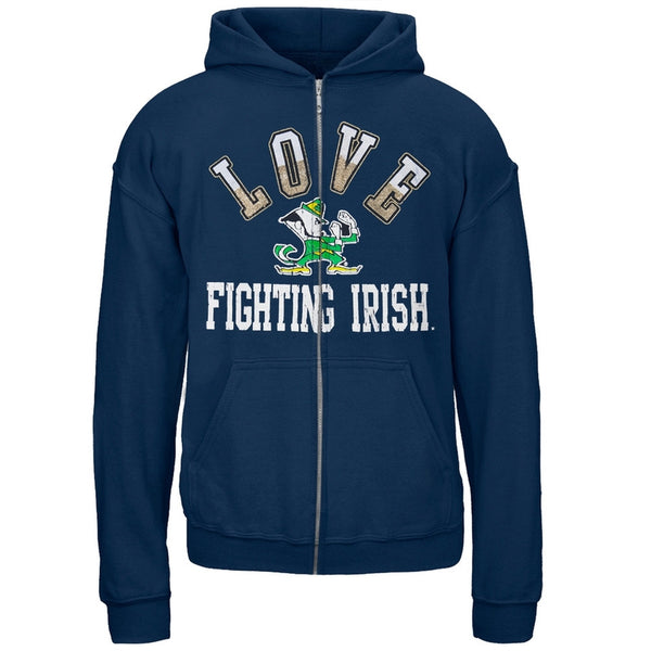 Notre Dame Fighting Irish - Glitter Love Girls Youth Hoodie