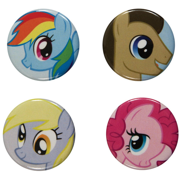 My Little Pony - Characters 4-Piece Button Set