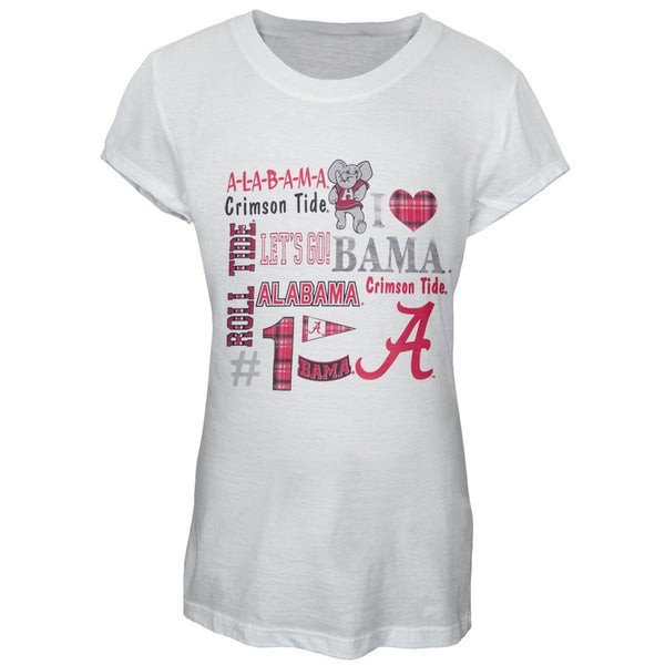 Alabama Crimson Tide - Foil Logo Cheer Girls Juvy T-Shirt