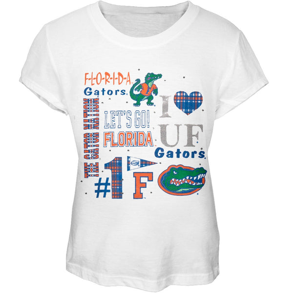 Florida Gators - Foil Logo Cheer Girls Youth T-Shirt