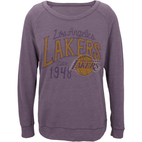 Los Angeles Lakers - 1948 Off-Shoulder Juniors Long Sleeve T-Shirt