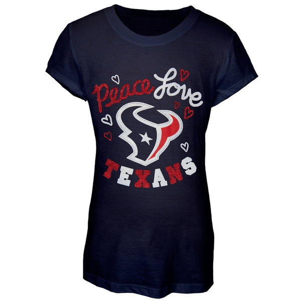 Houston Texans - Peace Love Girls Youth T-Shirt