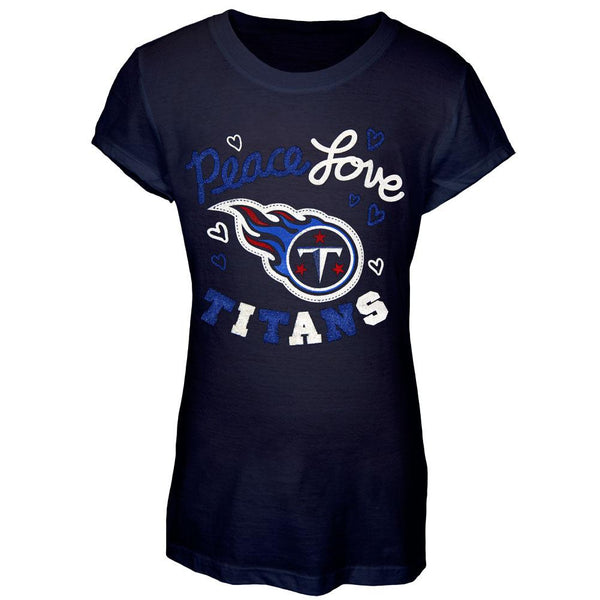Tennessee Titans - Peace Love Girls Youth T-Shirt