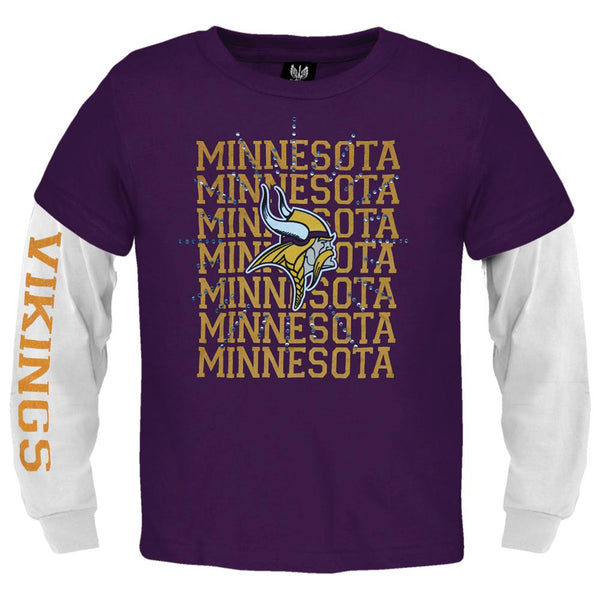 Minnesota Vikings - Jewel Team & Logo Girls Youth 2fer