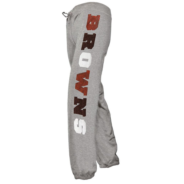 Cleveland Browns - Glitter Hearts Girls Youth Sweatpants
