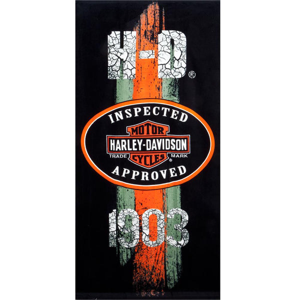 Harley Davidson - Inspector Approved 1903 Velour Beach Towel