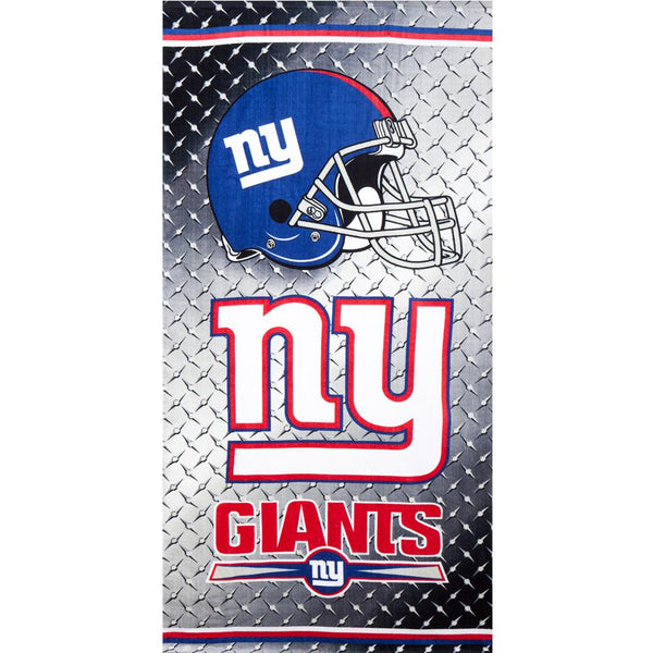 New York Giants - Chrome Shield Velour Beach Towel
