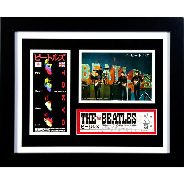 The Beatles - Live at Budokan Ticket Framed Art