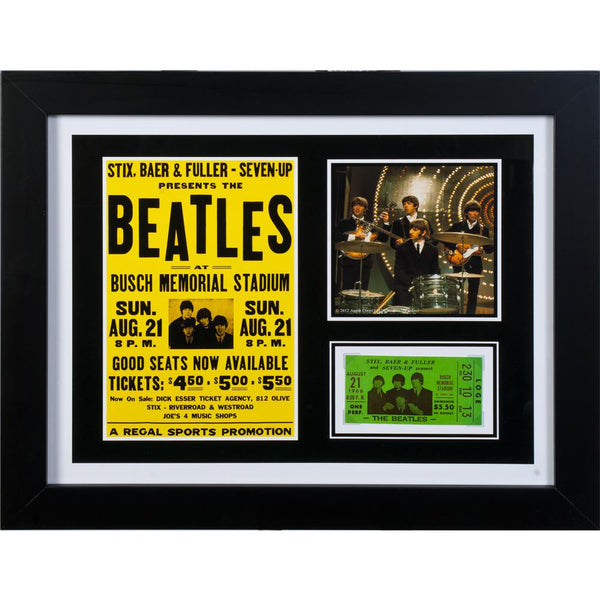 The Beatles - Busch Stadium Ticket Framed Art