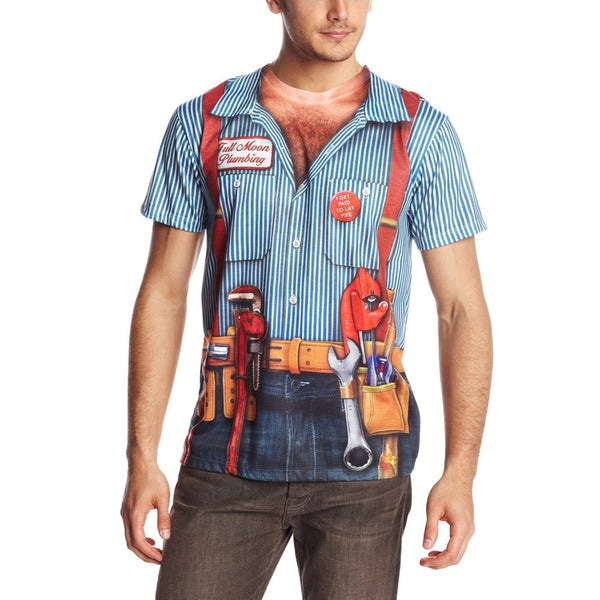Faux Real - Plumber Costume T-Shirt