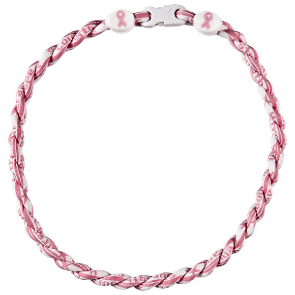 Breast Cancer Awareness - Double Braid Titanium 20 Necklace