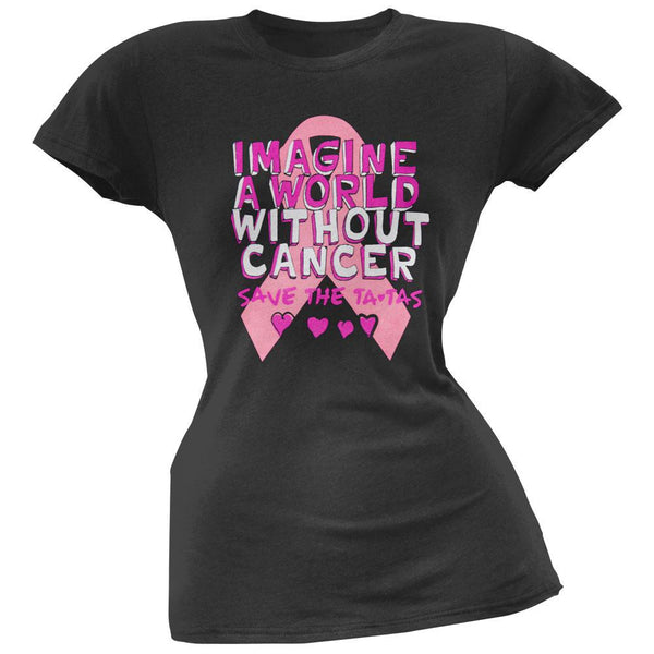 Breast Cancer Awareness - Without Cancer Doodle Juniors T-Shirt