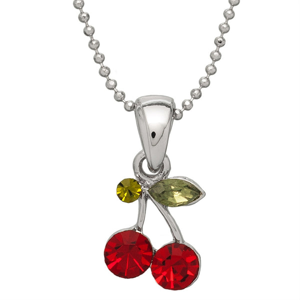 Gemmed Cherries Necklace