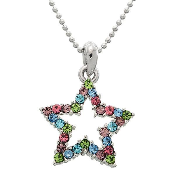 Hollowed Gem Star Necklace