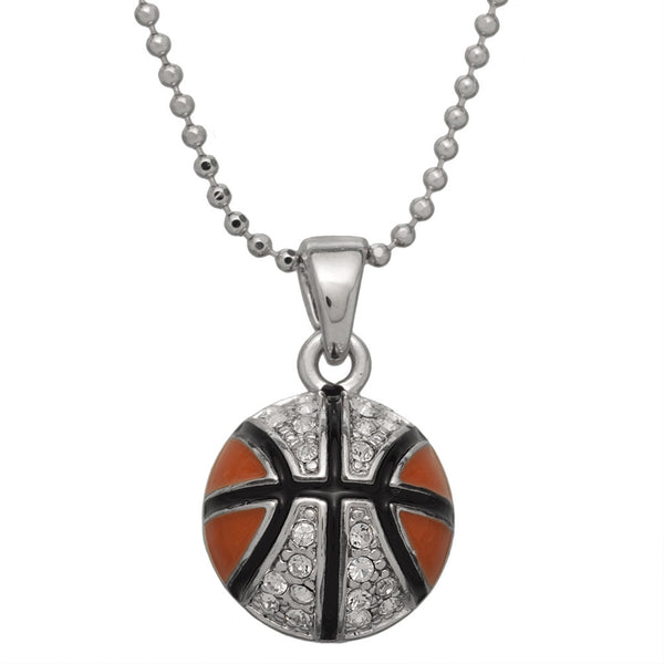 Gemmed Basketball Necklace
