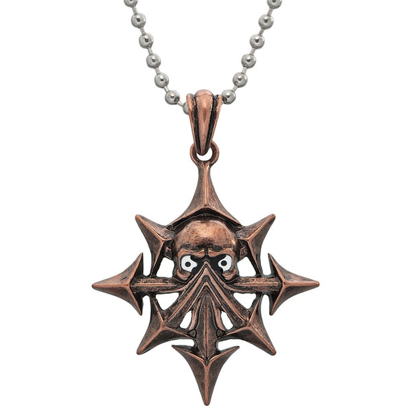 Copper Demon Compass Pendant