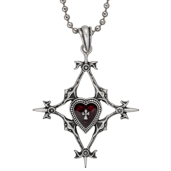 Crystal Heart Gothic Pendant