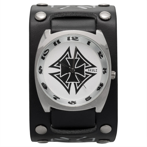 Black Double Iron Cross Band Watch