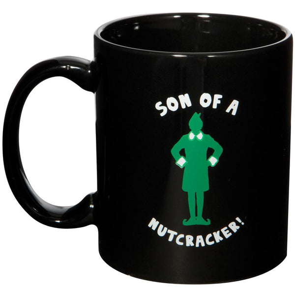 Elf - Son of a Nutcracker Black Coffee Mug