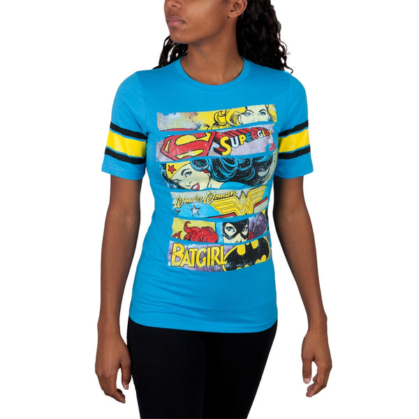 DC Comics - Girl Hero Bars Juniors Jersey T-Shirt