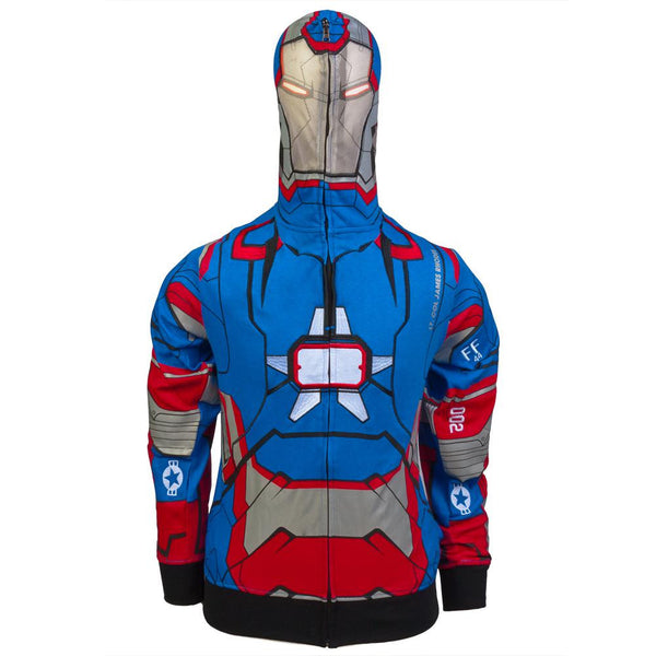 Iron Man - I Am Iron Patriot Costume Zip Hoodie