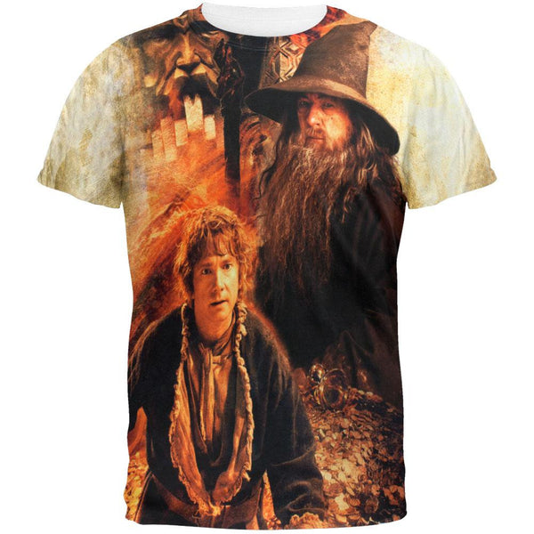The Hobbit - Bilbo & Gandalf All Over T-Shirt