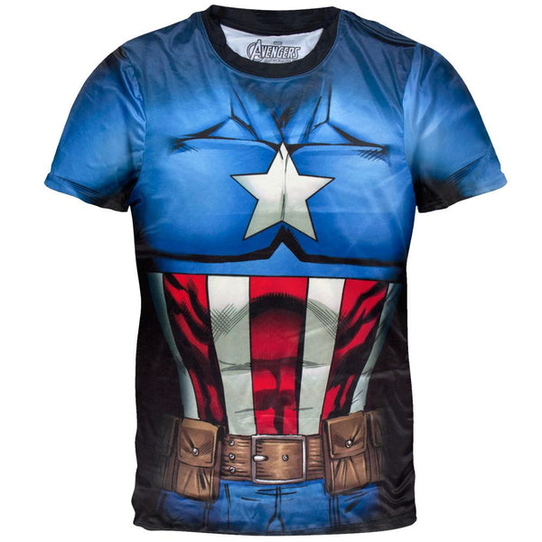 Captain America - Cappin Stance Sublimation Costume T-Shirt