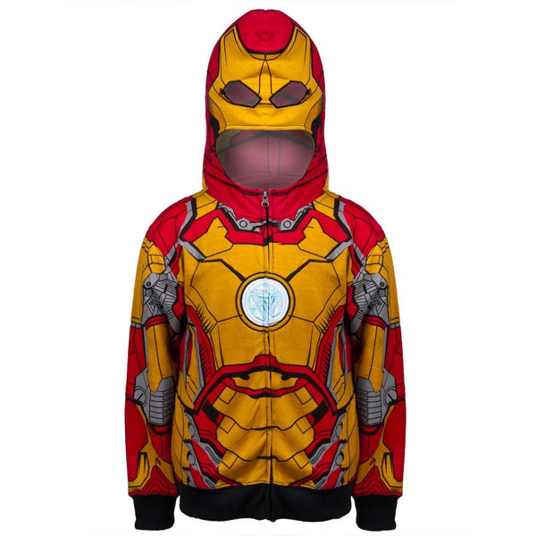 Iron Man - Open 42-M Costume Youth Zip Hoodie