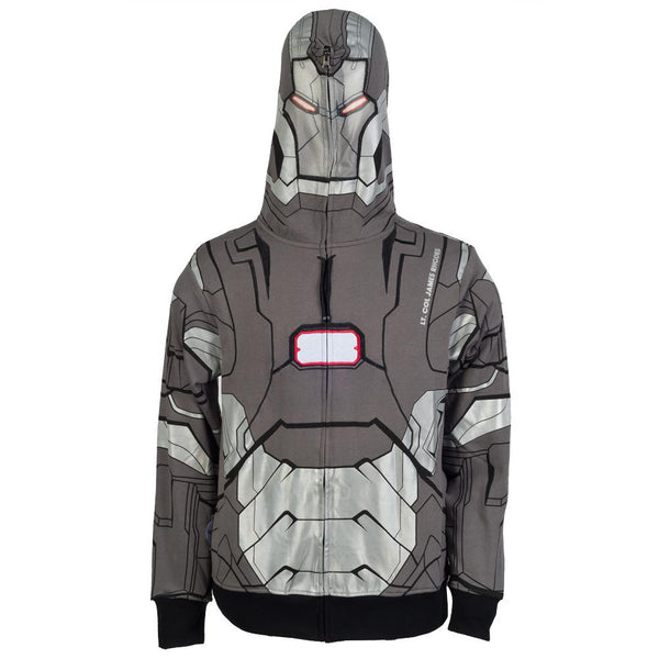 Iron Man - I Am War Machine Costume Zip Hoodie