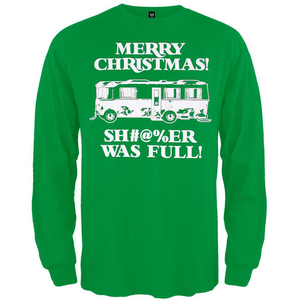 Christmas Vacation - Shitter Was Full Green Long Sleeve T-Shirt