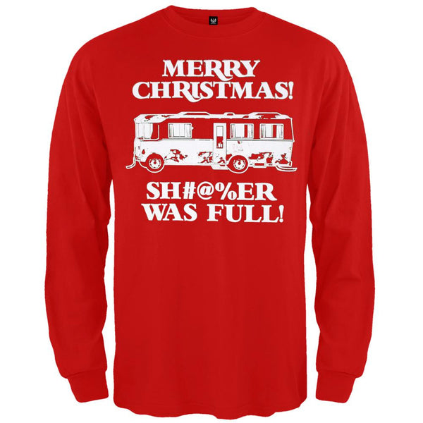 Christmas Vacation - Shitter Was Full Red Long Sleeve T-Shirt
