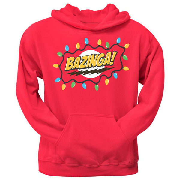Big Bang Theory - Christmas Lights Bazinga Red Pullover Hoodie