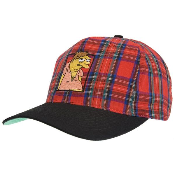 Simpsons - Barney Plaid Baseball Cap