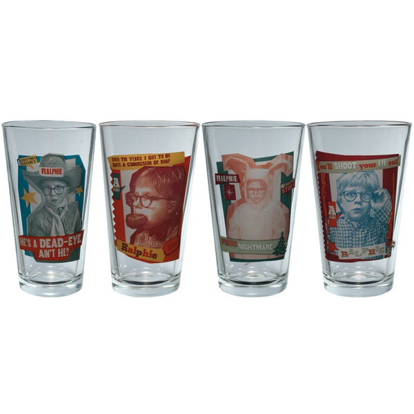 A Christmas Story - Ralphie 4 Pack Pint Glass Set